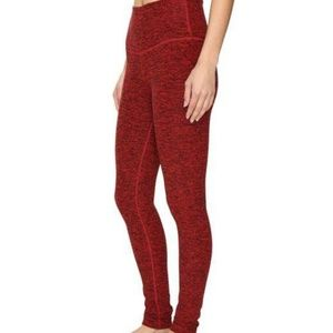 Beyond Yoga Red Spacedye Leggings